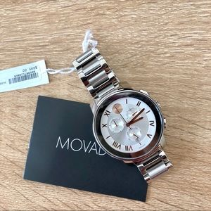 New Movado Bold Silver tone with RG hands Ladies⌚️